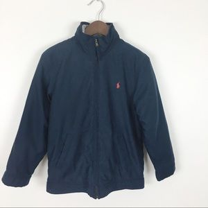 Polo Ralph Lauren Boys Navy Fleece Lined Coat